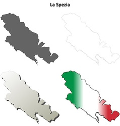 La Spezia blank detailed outline map set vector image