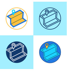 local seo icon set in flat and line style vector image