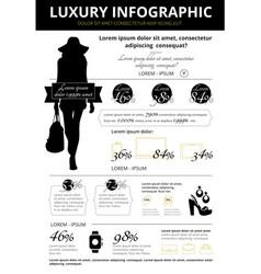 Luxury goods statistic infographic vector