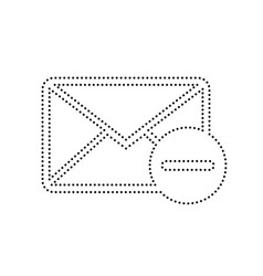 mail sign black dotted icon vector image