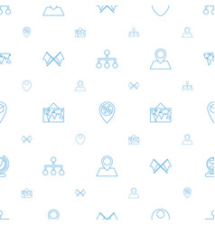 map icons pattern seamless white background vector image