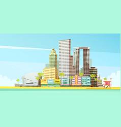 Miami skyline design concept vector
