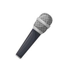 microphone with black handle karaoke sign icon vector image