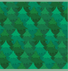 mysterious pattern with coniferous forest vector image
