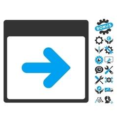 Next Calendar Day Icon With Bonus vector
