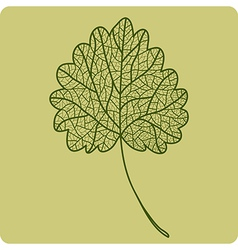 One green leaf vector