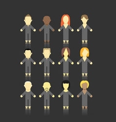 people collection vector image