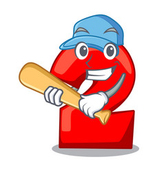 playing baseball cartoon paper number two on vector image
