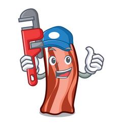 Plumber ribs mascot cartoon style vector