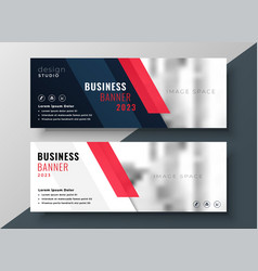 Professional corporate business banner design vector