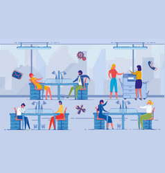 project management workplace for colleagues vector image