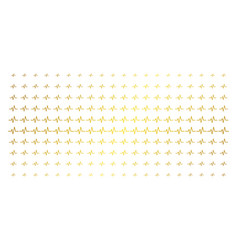 pulse gold halftone effect vector image