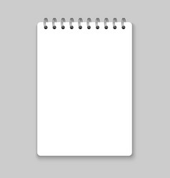 realistic spiral notebook mockup vector image