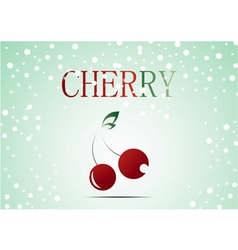 Red cherry with christmas theme vector image