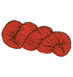 Red hank of yarn vector