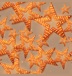 Retro stars seamless pattern light and shining vector