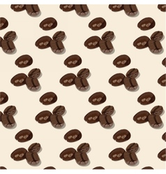 Roasted coffee beans pattern vector
