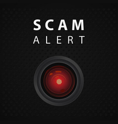 Scam alert indicator vector