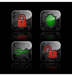 Security icons vector image