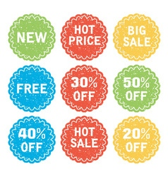 set discount and sale labels vector image