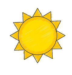 Shine sun to spring to natural weather vector