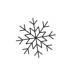 snowflake of winter icon vector image