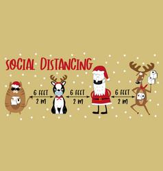 Social distancing 6 feet - covid-19 information vector
