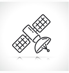 space satellite thin line icon vector image