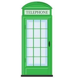 Telephone booth in green color vector