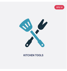 two color kitchen tools icon from tools and vector image