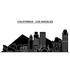 Usa california los angeles architecture vector