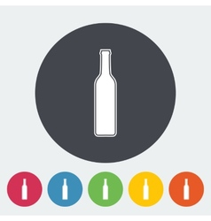 Wine flat icon vector image