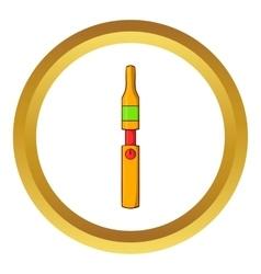 Yellow electronic cigarette icon vector