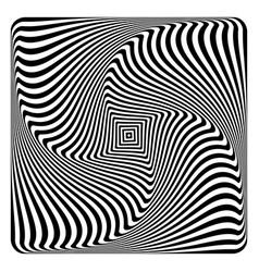 op art abstract design vector image vector image