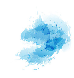 blue abstract splatter watercolor background vector image