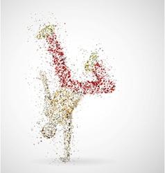 Dancing male vector image