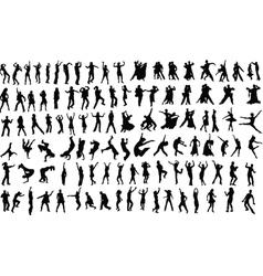 dansers vector image