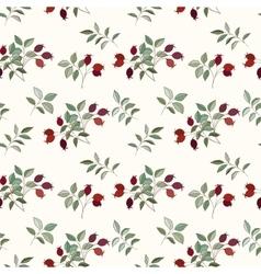 Hawthorn seamless pattern vector image