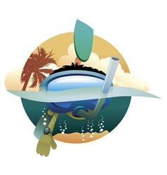 kid diver vector image