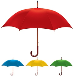 umbrella set vector image vector image