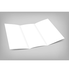 blank tri fold paper flyer on gray vector image