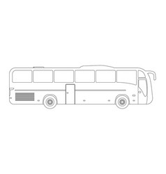 bus flat icon and logooutline vector image vector image
