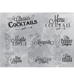 Cocktails coal vector image