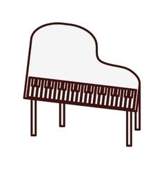 Classic piano icon image vector