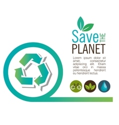 Info graphic recycle ecological icon design vector
