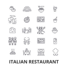 italian restaurant kitchen spaghetti sea food vector image