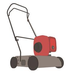 lawn mower icon grass garden mowing gardening vector image