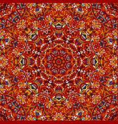 Stylized flowers oriental wallpaper retro seamless vector