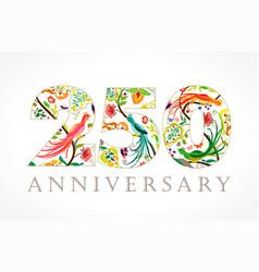 250 anniversary folk logo vector