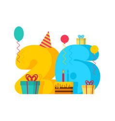 26 year greeting card birthday 26th anniversary vector image